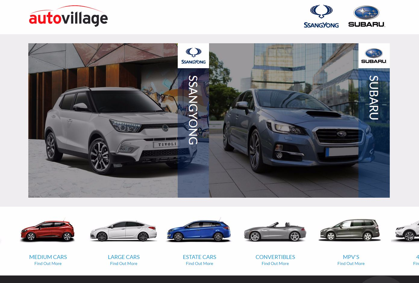 AUTOVILLAGE – the UK's NUMBER ONE SSANGYONG DEALER